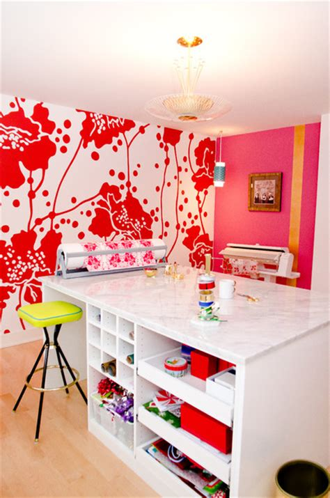 Bright And Beautiful Craft Room  Contemporary Home