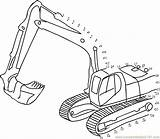 Construction Connect Coloring Jcb Dots Truck Dot Digger Colouring Worksheet Tractor Toddlers Printable Cement Library Clipart Transporation Connectthedots101 Preschool Clip sketch template