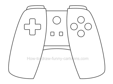 draw  cartoon game controller
