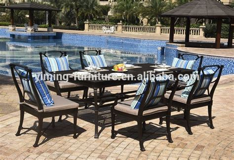 high quality outdoor dining set lasting cast aluminum