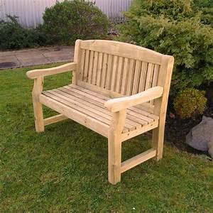banc de jardin en bois 1m22 meuble de jardin With plan de banc de jardin en bois