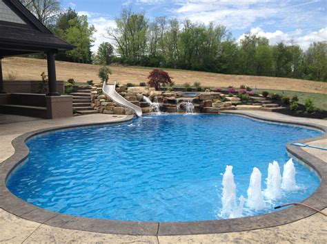 best swimming pool features water features mid american gunite pools
