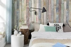 Tapeten Im Schlafzimmer : tapete in holzoptik 24 effektvolle wandgestaltungsideen ~ Sanjose-hotels-ca.com Haus und Dekorationen