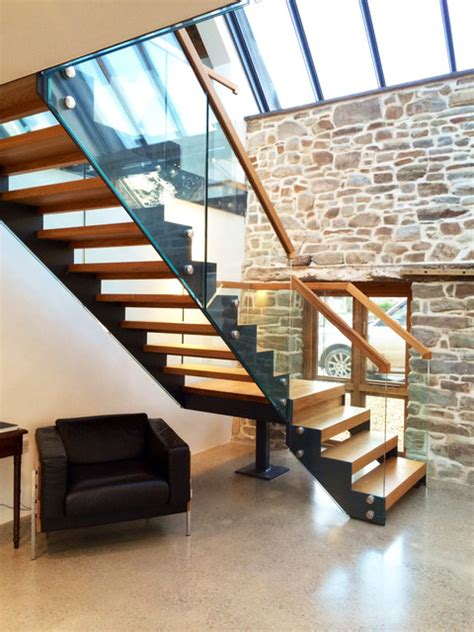 Rustic Kitchens Ideas by Bespoke Staircase Barn Conversion Cornwall