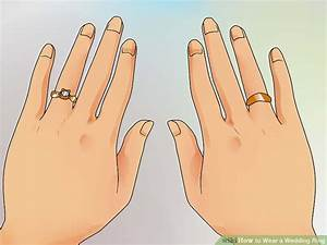how to wear a wedding ring 11 steps with pictures wikihow With which hand do you put a wedding ring on