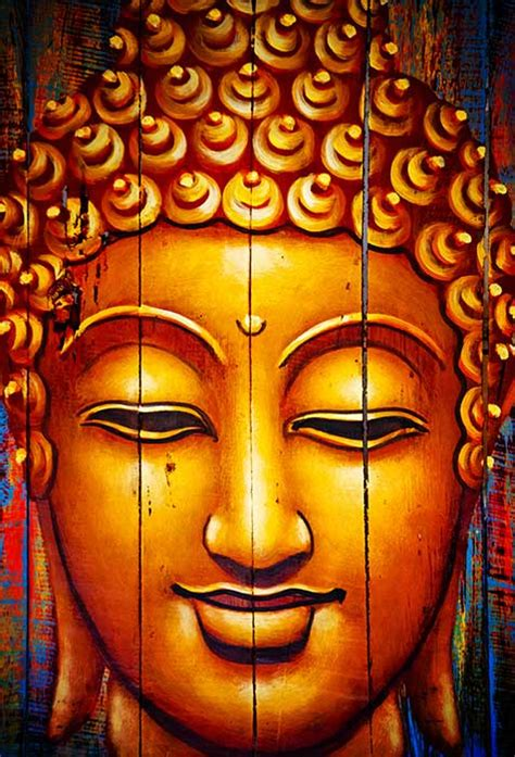 buddha face painting wallpaper  bedroom wall decor
