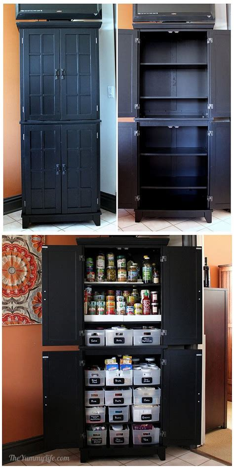 ideas  pantry cabinets  pinterest