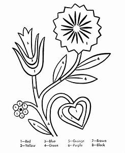 color by number flower coloring pages - color by number flower coloring pages