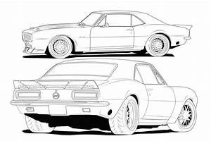 how to draw a chevy silverado 67 camaro line drawing With chevy camaro rs