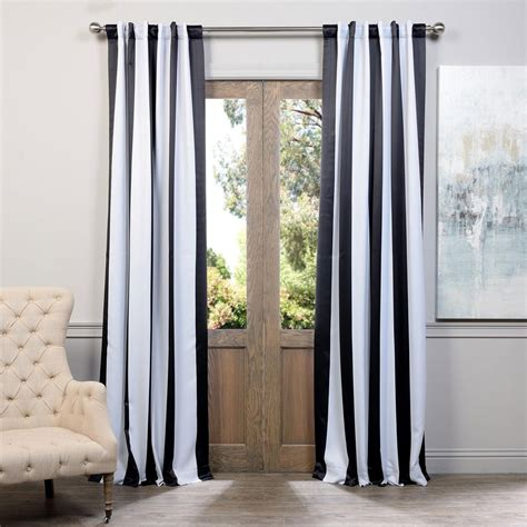 Black And White Striped Curtains 96 by Awning Black And White Stripe 96 X 50 Inch Blackout