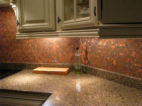 copper kitchen backsplash ideas penny designs 25 diy ideas for home decorating with majestic copper glow pennies repurpose