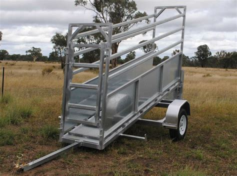 cattle loading ramp trailer portable yards ramps plans mobile adjustable livestock trailers gate chutes welding many