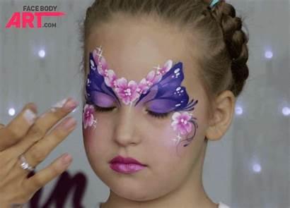 Glitter Face Painting Using Applying Finger Applicator