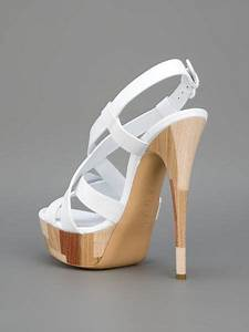 casadei strappy sandal in white lyst