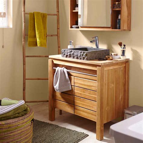 meuble salle de bain bois pas cher peinture faience