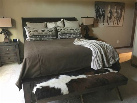 foot of bed bench cowhide bench foot stool