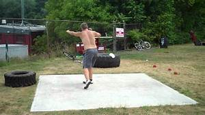 Shot Put SPin Practice - YouTube