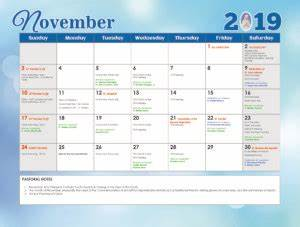 Four Month Calendar Calendar 2019 Our Lady Of The Poor