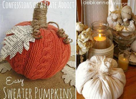 recycling  clothes  fabrics  handmade pumpkins