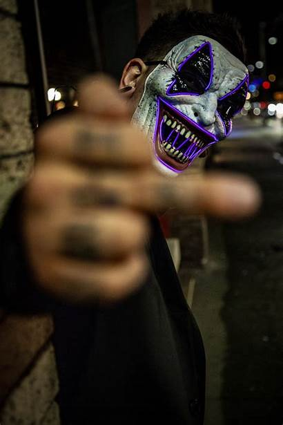 Neon Mask Wallpapers Unsplash Face Clown Purple