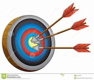An archery board stock vector. Illustration of sharp ...