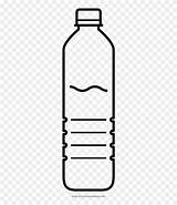 Water Bottle Coloring Clipart Pinclipart Transparent Plastic sketch template