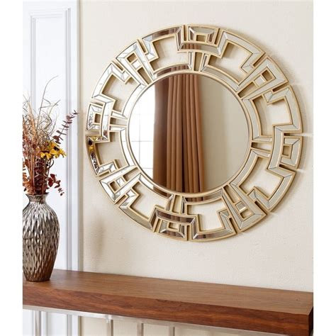 Whether a shopper is looking for a bathroom vanity mirror or decorative mirror for a living space, wayfair offers many options for purchasing a gold wall mirror. Abbyson Pierre Gold Round Wall Mirror - Free Shipping ...