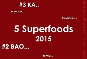 Kalorienbedarf Muskelaufbau Berechnen : f nf superfoods f r das jahr 2015 make muscles ~ Themetempest.com Abrechnung