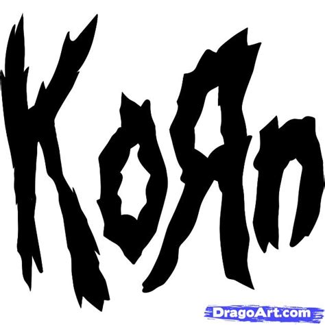 korn logo 1 how to draw korn korn logo step by step pop