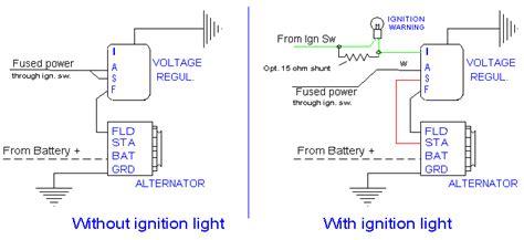 alternator wiring     dash warning light