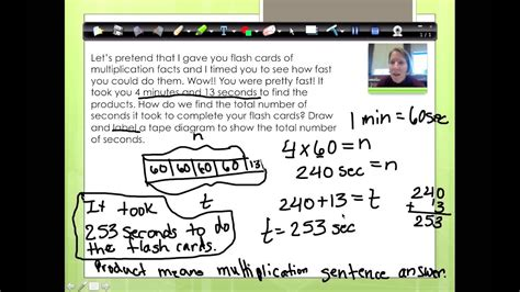 ny common core  grade math module  lesson  youtube