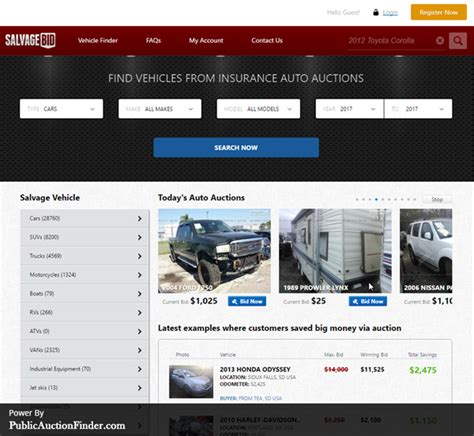 Auto Bid Auction by Top 10 Salvage Auto Auction Auction Finder