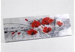 Tableau Fleurs Moderne : toile fleurs rouges modernes campagne amadeus amadeus 576 ~ Teatrodelosmanantiales.com Idées de Décoration