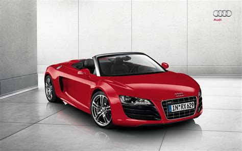 Audi R8 Convertible Red Hd Wallpaper, Background Images