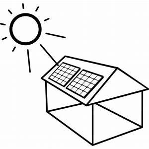 Panneau Solaire Gratuit : maison avec panneau solaire install t l charger icons ~ Melissatoandfro.com Idées de Décoration