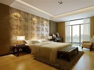 3d Wandpaneele Schlafzimmer : 3d wandpaneele 37 wundersch ne beispiele ~ Michelbontemps.com Haus und Dekorationen