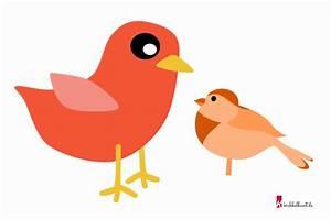Vögel Basteln Zum Aufhängen : vogel vorlage vogel basteln vorlage kribbelbunt ~ A.2002-acura-tl-radio.info Haus und Dekorationen