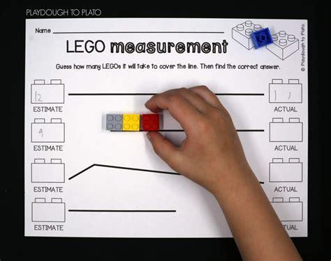 lego measurement playdough  plato