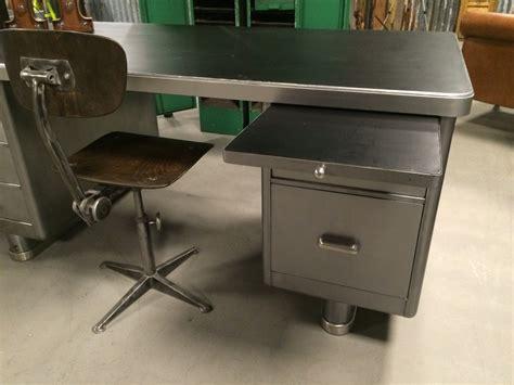 bureau vintage industriel itsthat stripped steel desk sold