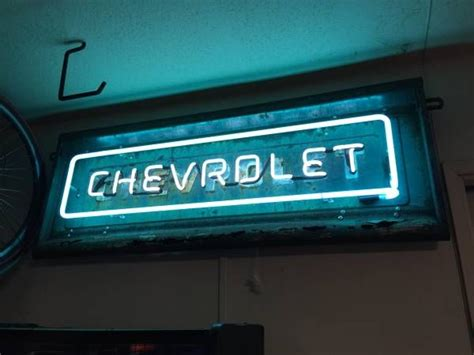 Chevrolet Neon Sign by Chevrolet Tailgate Neon Sign Tailgate Wall