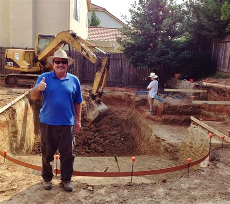 Swimming Pool Construction Starts Now! Roseville, Ca