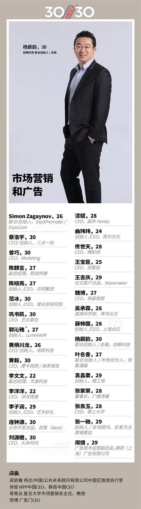 福布斯中国2018年30位30岁以下精英榜单公布 福布斯中国 30岁 榜单_新浪科技_新浪网