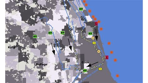 chicago area waterway system  maps metropolitan