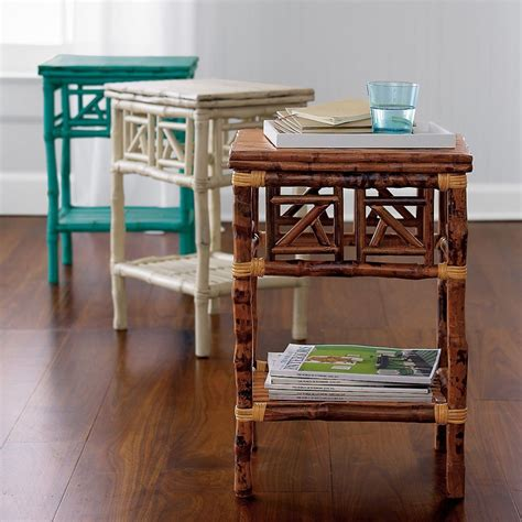 small wicker side table rattan accent table necessities and temptations