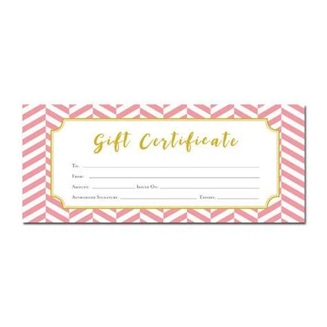 chevron pink chevron gift certificate customer