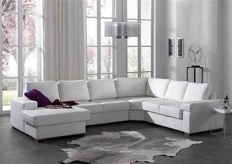 canape blanc cuir salon avec canape d angle maison design wiblia com