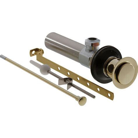 delta tub drain parts delta push pop up drain assembly in chrome with less