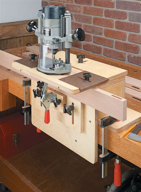 router mortising jig woodworking project woodsmith plans
