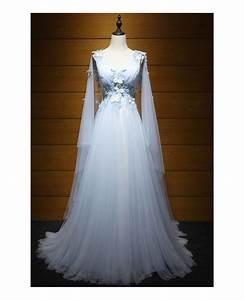 dreamy ball gown v neck floor length tulle wedding dress With floor length wedding dresses