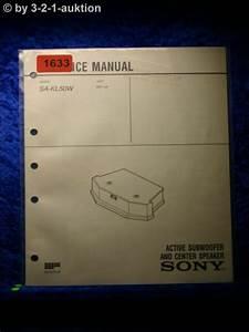 Sony Service Manual Sa Kl50w Subwoofer Centre Speaker